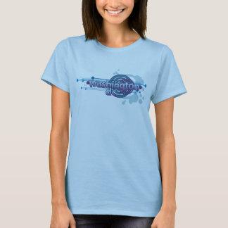 Baby Blue Graphic Circle Washington DC T-Shirt