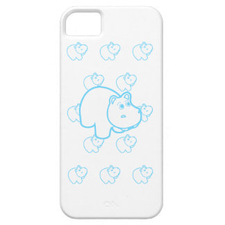 Baby Blue Hippo Case For The iPhone 5