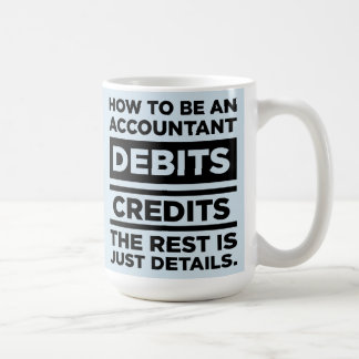 Baby Blue How To Be An Accountant Debits Credits Coffee Mug