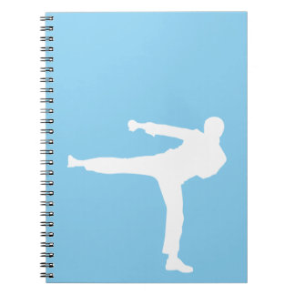 Baby Blue Karate Notebooks