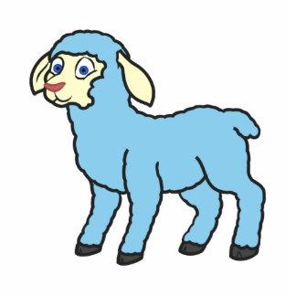 Baby Blue Lamb Photo Sculpture Magnet
