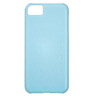Baby Blue Leather Look iPhone 5 case