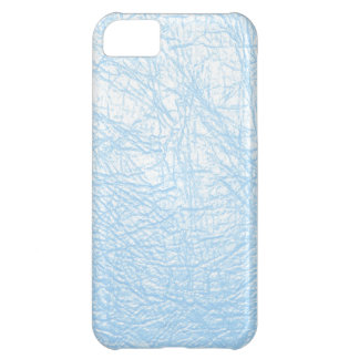 baby blue leather texture cover for iPhone 5C