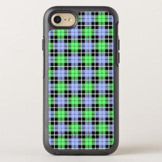 Baby blue/Light green plaid white stripe OtterBox Symmetry iPhone 8/7 Case