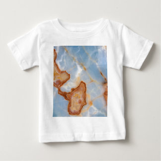 Baby Blue Marble with Rusty Veining Baby T-Shirt