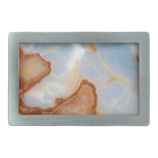 Baby Blue Marble with Rusty Veining Belt Buckle