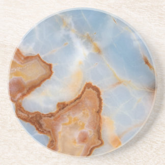 Baby Blue Marble with Rusty Veining Coaster