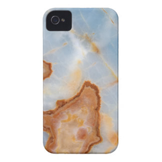Baby Blue Marble with Rusty Veining iPhone 4 Cover