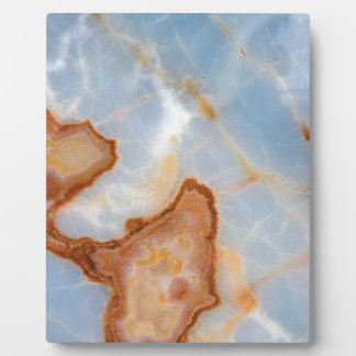 Baby Blue Marble with Rusty Veining Plaque