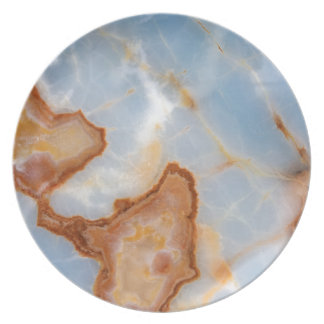 Baby Blue Marble with Rusty Veining Plate