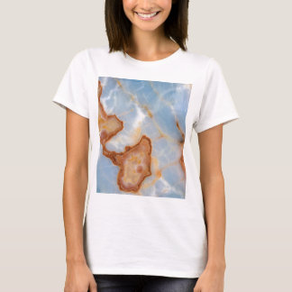 Baby Blue Marble with Rusty Veining T-Shirt