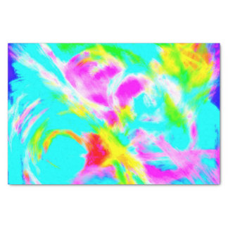Baby Blue Mist Abstract Tissue Paper | Pink Yellow