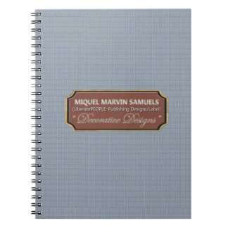 Baby Blue Pattern Decorative Modern Notebook