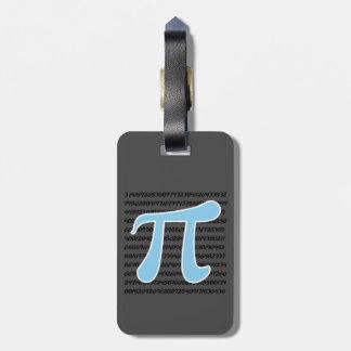 Baby Blue Pi Symbol Luggage Tag