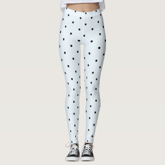 Baby Blue Polka Dot Pattern Leggings