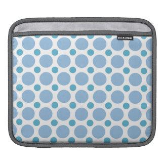 Baby Blue Polka Dots iPad Sleeves