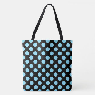 Baby Blue Polka Dots Tote Bag