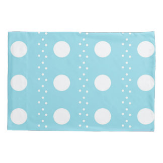 Baby Blue Polkadot Pillowcase