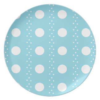 Baby Blue Polkadots Party Plate