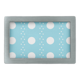 Baby Blue Polkadots Rectangular Belt Buckle