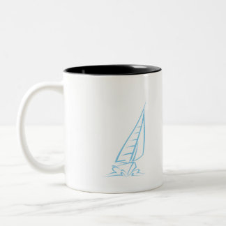 Baby Blue Sailing Two-Tone Coffee Mug