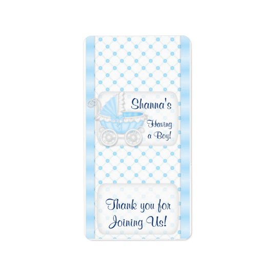 Baby Blue Shower Hersheys Miniature Candy bar wrap Label