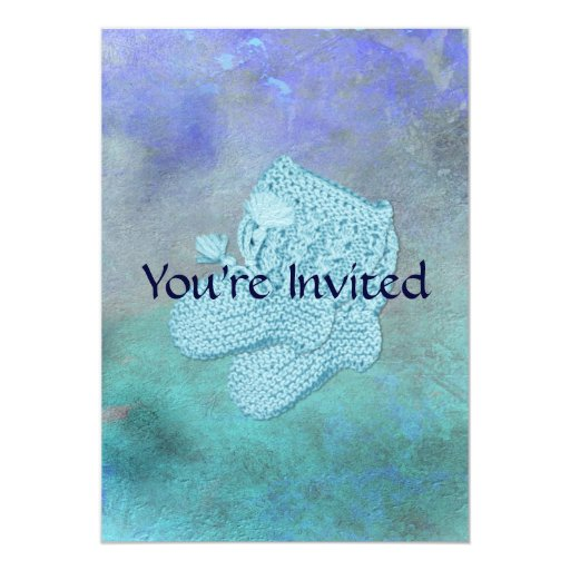 Baby Blue Shower Invitations