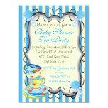 Baby Blue Shower Victorian Tea Party Invitation
