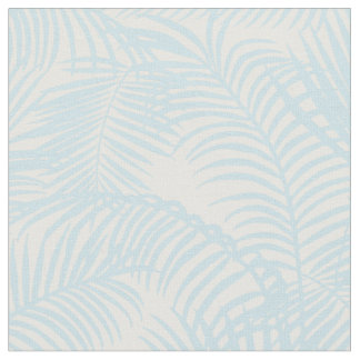 Baby blue simple modern tropical palm tree floral fabric