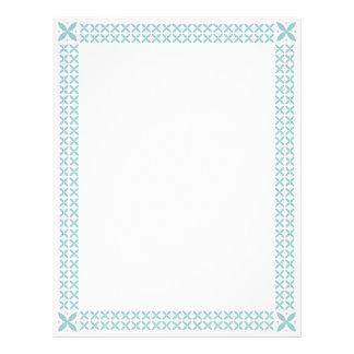 Baby Blue Stencil Border Frame Letterhead
