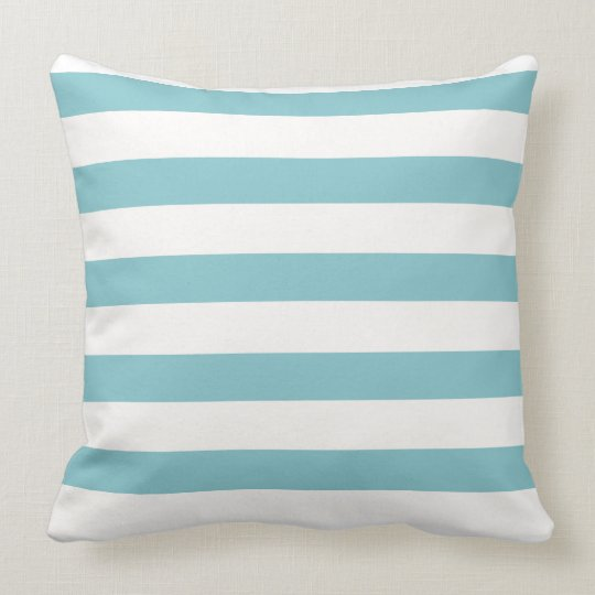 Baby Blue Stripped Throw Pillow
