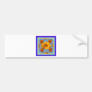 Baby Blue Sunflower Design Bumper Sticker