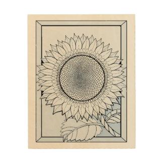 Baby Blue Sunflower Wood Print