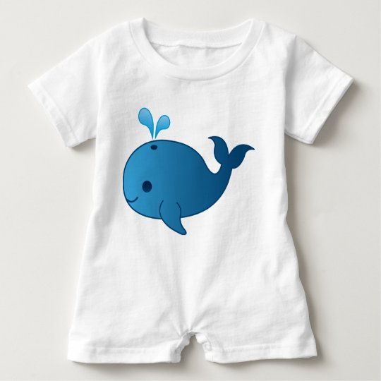 Baby Blue Whale Romper