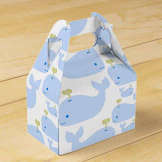 Baby Blue Whales Infant Gift Shower Favor Box