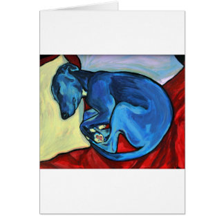 'Baby Blue'  Whippet puppy Card
