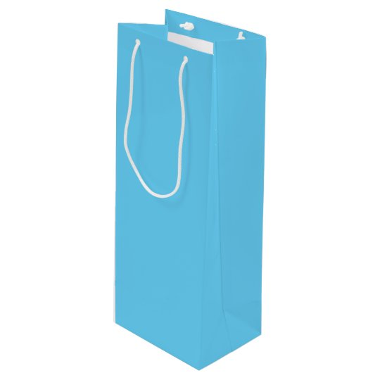 Baby Blue Wine Gift Bag