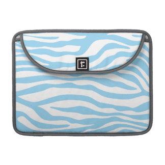 Baby Blue Zebra Animal Print MacBook Pro Sleeves