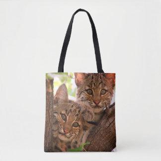 Baby Bobcats Tote Bag