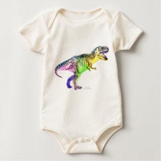 Baby Body - Rainbow TRex Baby Bodysuit