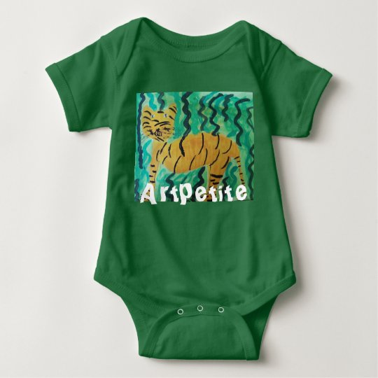 "baby body suit ""artpetite"" tiger baby bodysuit"
