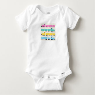 Baby body with train : Original art Baby Onesie