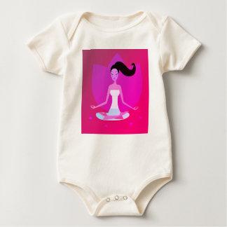 Baby body with Yoga girl Baby Bodysuit