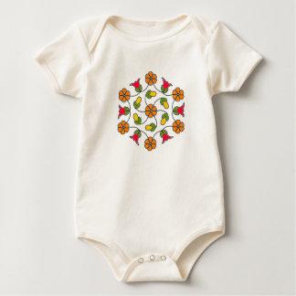 Baby Bodysuit-Flower Series#63 Baby Bodysuit