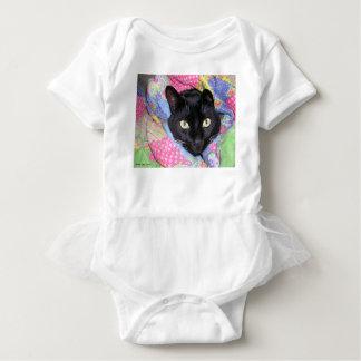 Baby Bodysuit: Funny Cat - wrapped in Blankets Baby Bodysuit