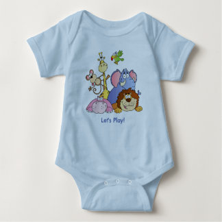 Baby Bodysuit--Jungle Animals Baby Bodysuit