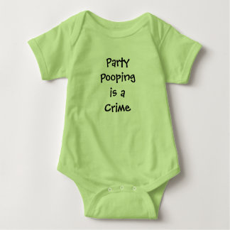 Baby Bodysuit Party Pooping Funny Baby Shower GIft