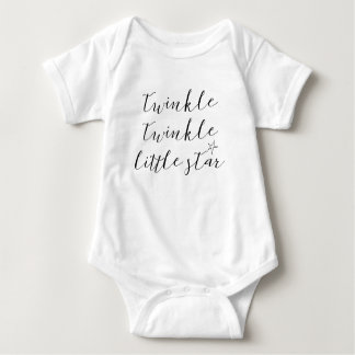 baby bodysuit quote twinkle twinkle little star