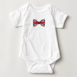 Baby Bodysuit - Union Jack Bow
