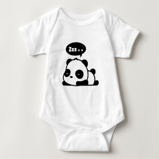 baby bodysuit with a cute sleepy panda